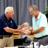 Fred Lorentsen receives his award